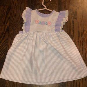 Vintage lavender dress apron style 3t